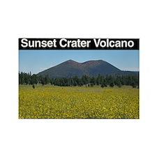 Sunset Crater v1 Rectangle Magnet (10 pack)