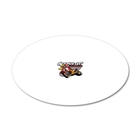 supermoto01 20x12 Oval Wall Decal