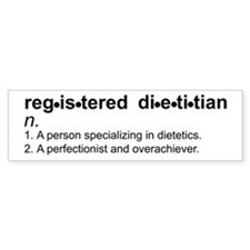 Registered Dietitian Bumper Bumper Sticker