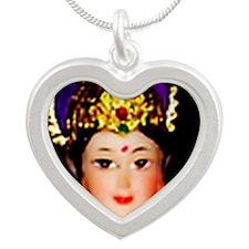 Hindu3b Silver Heart Necklace