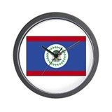 Belize Flag Wall Clock