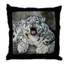 SnowLeopardBCR007 Throw Pillow