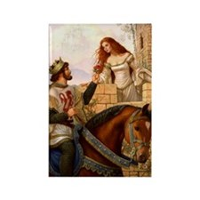 Guinevere and Arthur Rectangle Magnet
