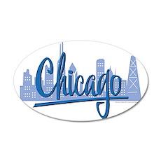 CHICAGO-Dark-Blue 35x21 Oval Wall Decal