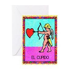 cupid9by12doubleborder Greeting Card