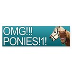 White on Slashdot Teal - OMG Ponies!1!