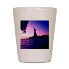 Statue of Liberty Sailing By NYC Pink D Shot Glass