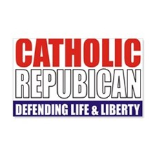 2-Catholic Republican (TShirt Fro Wall Decal