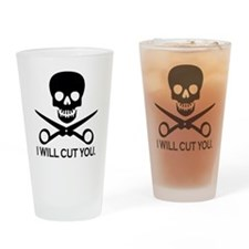 Beauty Shop Pirate 1 Drinking Glass