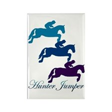 Hunter Jumper Rectangle Magnet (100 pack)