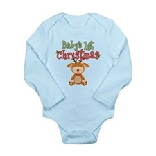1st Christmas Baby Reindeer Long Sleeve Infant Bod