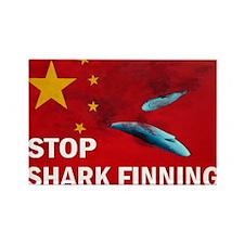 shark-finning-cards Rectangle Magnet