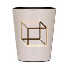 Necker cube Shot Glass