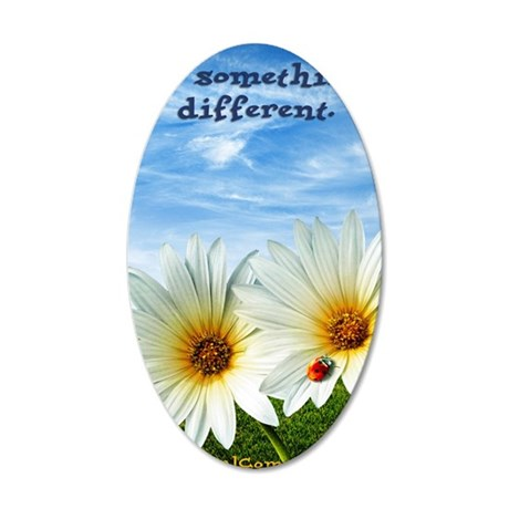 daisy design 35x21 Oval Wall Decal