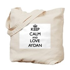 Keep Calm and Love Aydan Tote Bag