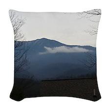 Smoky Mountains Woven Throw Pillow