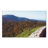 Skyline Dr. Overlook Rectangle Bumper Stickers