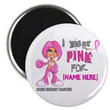 """Personalized Breast Cancer Custom 2.25"""" Magnet (10"""