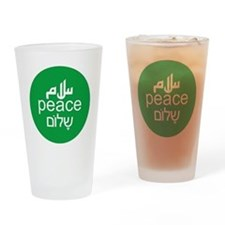 peace-3lang Drinking Glass