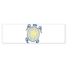 Tribal Sea Turtle Bumper Bumper Sticker