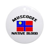 Muscogee Native Blood Ornament (Round)