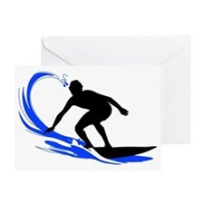 shirt-waves-surfer2 Greeting Card