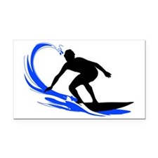 shirt-waves-surfer2 Rectangle Car Magnet
