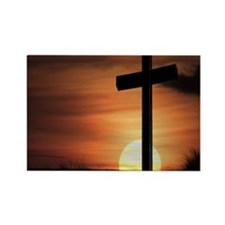Sunset Cross Rectangle Magnet