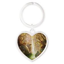 cat_fantasy Heart Keychain