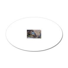 quail_greet_card 20x12 Oval Wall Decal