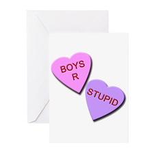 Boys R Stupid Greeting Cards (Pk of 10)