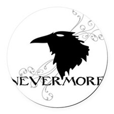 nevermore Round Car Magnet