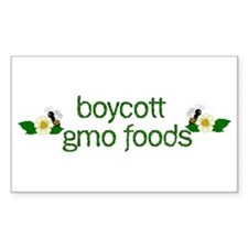 Boycott GMO Foods Decal