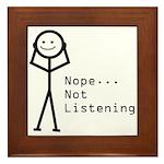 Selective Hearing Framed Tile