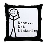 Selective Hearing Throw Pillow