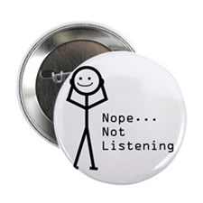 """Selective Hearing 2.25"""" Button (100 pack)"""