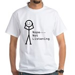 Selective Hearing White T-Shirt