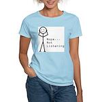 Selective Hearing Women's Pink T-Shirt