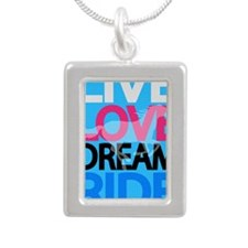 livelovedream-ride-23x35 Silver Portrait Necklace