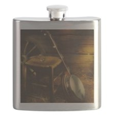Banjo Picture Larger Flask