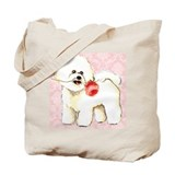 Bichon Rose Tote Bag