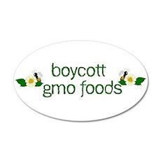 Boycott GMO Foods Wall Decal