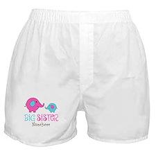 Personalized Big Sister Elephant Boxer Shorts