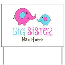 Personalized Big Sister Elephant Yard Sign