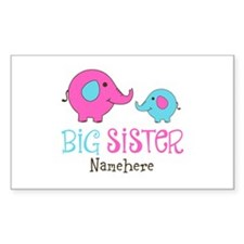 Personalized Big Sister Elephant Decal