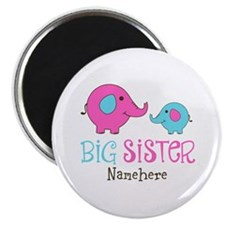 "Personalized Big Sister Elephant 2.25"" Magnet (10"
