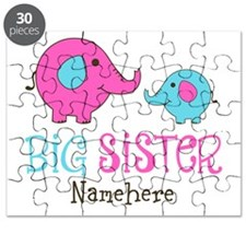 Personalized Big Sister Elephant Puzzle