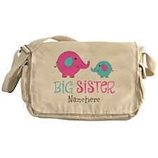 Personalized Big Sister Elephant Messenger Bag