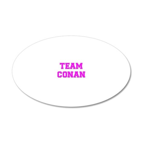 team_conan_pink 20x12 Oval Wall Decal