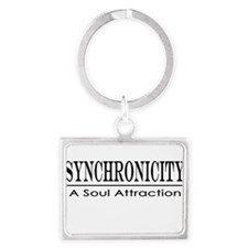 Syncronicity-soul attraction-lo Landscape Keychain